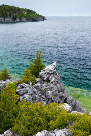 Scenic Views at the Grotto on Georgian Bay Ontario Canada Great Lakes Region