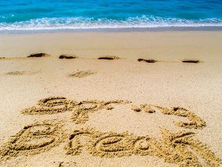 lucas: Spring break work on Sandy Beach of Cabo San Lucas in Mexico