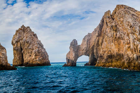 spring tide: The Rock Formation of Lands End, Baja California Sur, Mexico, near Cabo San Lucas