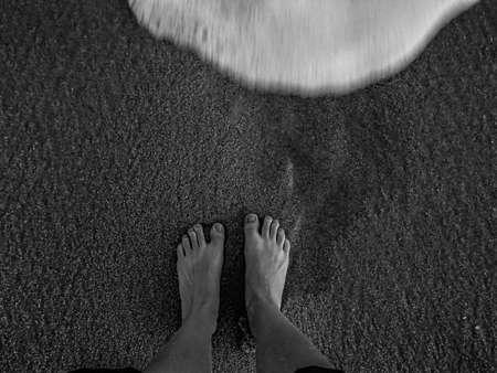 sandy feet: Feet on the Sandy Beach