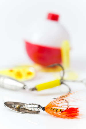 tackle: Closeup view of Fishing Tackle Equipment