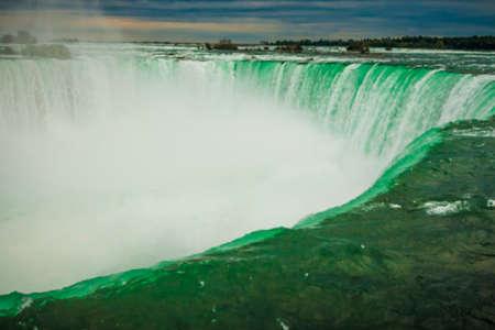 niagara falls: Summertime View of Niagara Falls from Ontario Canada Side