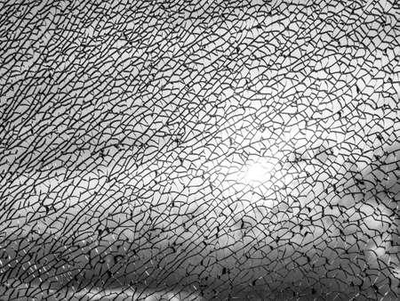 glass texture: broken glass texture against sunlight Stock Photo