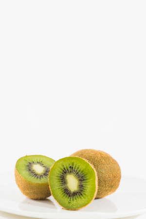 Fresh Kiwi Fruit in Half Zdjęcie Seryjne