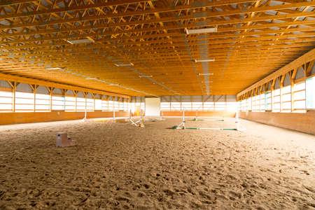 indoor sand ring for hunter jumper riding