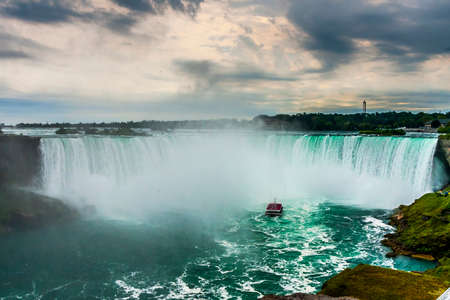 ontario: Summertime View of Niagara Falls from Ontario Canada Side