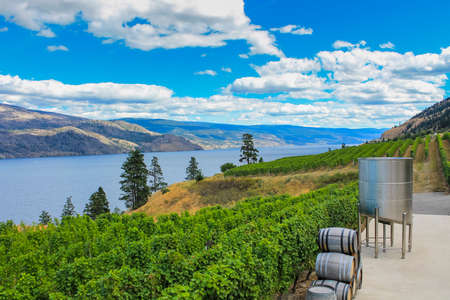 Scenic view of Okanagan Valley, BC Stok Fotoğraf
