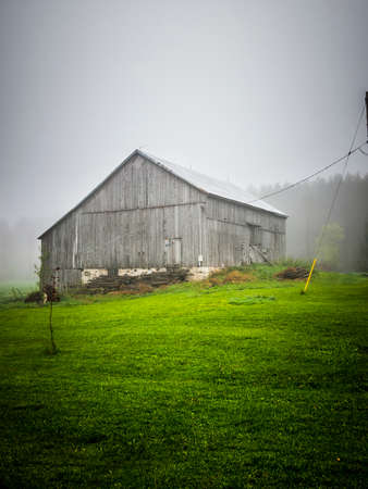 antiquated: An Old Country Style Barn Stock Photo