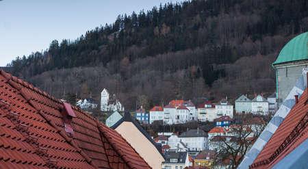 northern european: Overhead view of northern european city