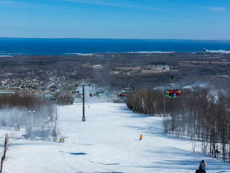 ski resort: Ski Resort Winter Scene