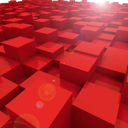 square block background in a 3D Illustration