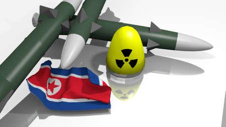 stylized warheads in a 3D Illustration Stok Fotoğraf