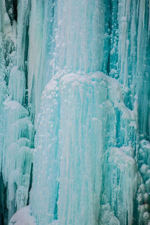 ontario: Winter View of Indian Falls in Owen Sound Ontario