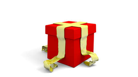 wrapped present: wrapped present in a 3D Illustration