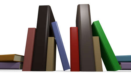 hardcover books in a 3D Illustration