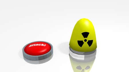 stylized warhead weapon in a 3D Illustration