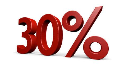 percent in a 3D Illustration