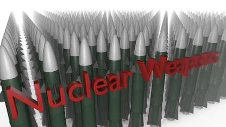 stylized warheads in a 3D Illustration Stock fotó - 57483348