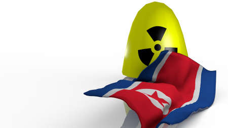 nuclear bomb: stylized warhead weapon in a 3D Illustration