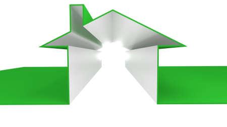house outline in a 3D Illustration