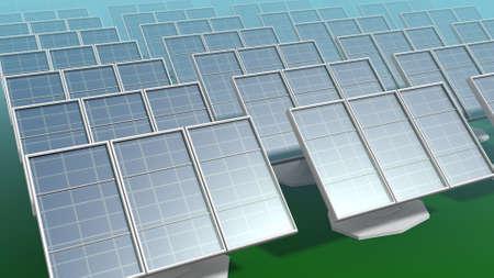 3 D イラストレーションの太陽光パネル 写真素材