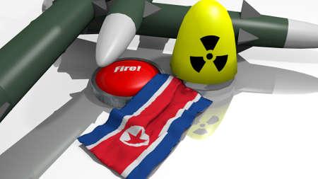 warheads: stylized warheads in a 3D Illustration Stock Photo