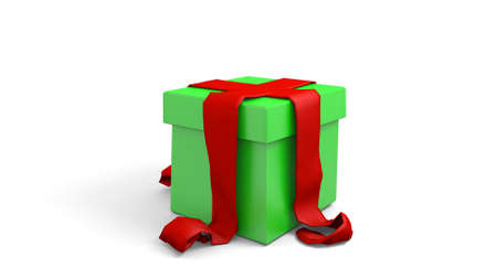 wrapped: wrapped present in a 3D Illustration