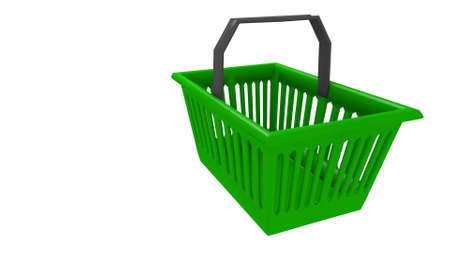 hand basket for shopping in a 3D Illustration Stock fotó