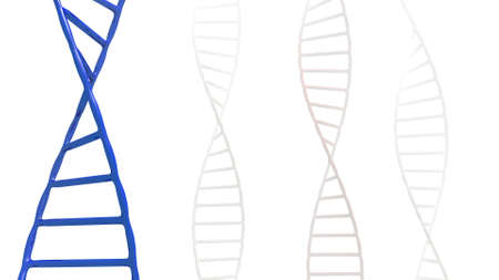 helix: stylized dna helix in a 3D Illustration Stock Photo