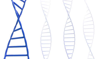 stylized dna helix in a 3D Illustration Stock Photo