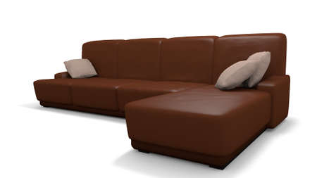 leather couch in a 3d illustration