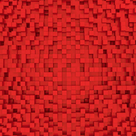three dimensional shape: square block background in a 3D Illustration