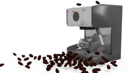 espresso machine in a 3D Illustration