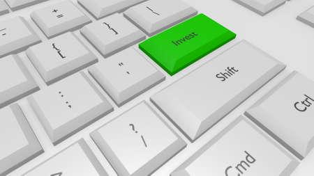 stylized keyboard in a 3D Illustration