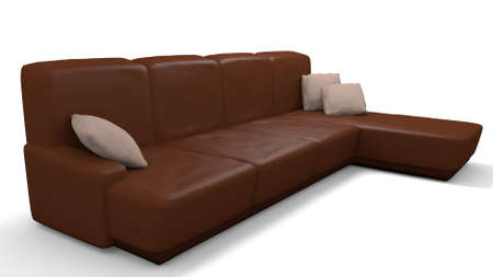 leather couch in a 3d illustration Stock Illustration - 57483959