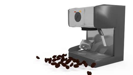 espresso machine: espresso machine in a 3D Illustration