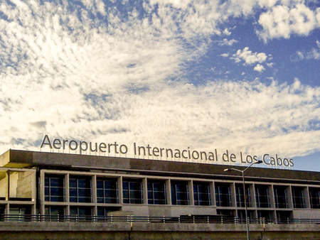 destination scenics: CABO SAN JOSE, MEXICO - MARCH 12 2015 : Cabo San Jose International Airport with airport code SJD serving a touristy area of the Baja California Sur. Editorial