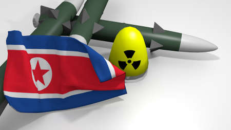 stylized warheads in a 3D Illustration Stock fotó