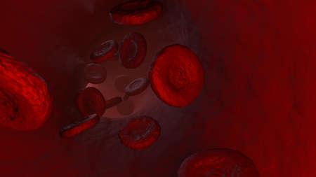 Glóbulos rojos estilizados en una ilustración 3D Foto de archivo - 57460843