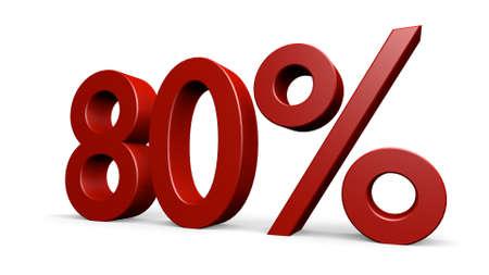 3d  illustration: percent in a 3D Illustration