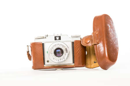 viewfinder vintage: TORONTO, CANADA - FEBRUARY 17, 2016 : Photography Gear in Bright Studio for Illustrative Editorial image