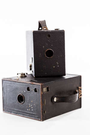 obscura: TORONTO, CANADA - JANUARY 13, 2015 : Old Kodak Brownie Camera Obscura on a bright background Editorial