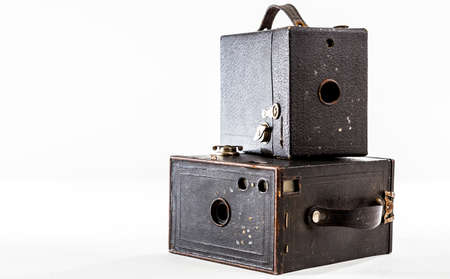 kodak: TORONTO, CANADA - JANUARY 13, 2015 : Old Kodak Brownie Camera Obscura on a bright background Editorial