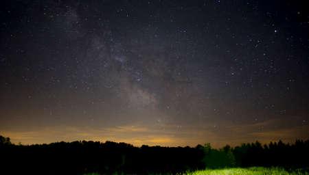galactic center: stars in night sky