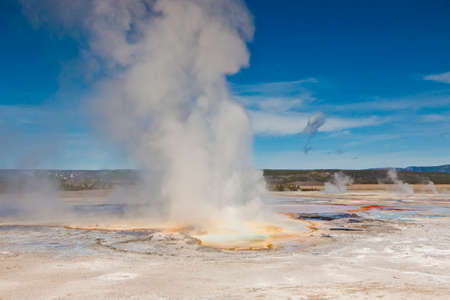 geothermal geyser activity