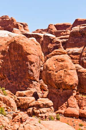 moab: sandstone arches in utahs moab desert area