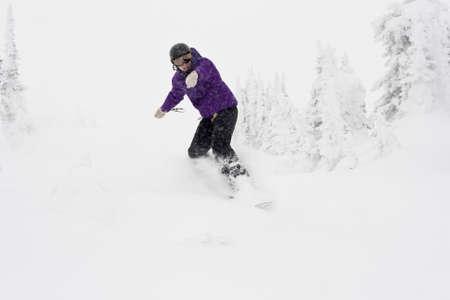 snowboarder in winter view