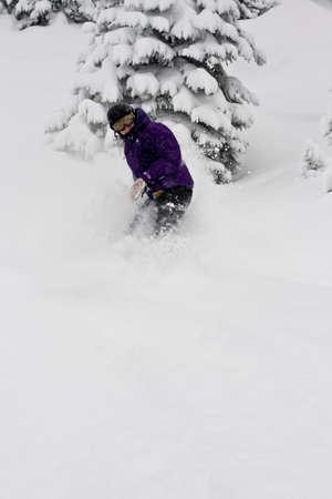 snowboarder: snowboarder in winter view