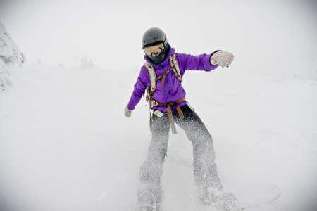 snowboarder in winter Stock Photo