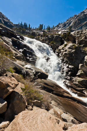 sequoia national park: tokopah falls in sequoia national park, california